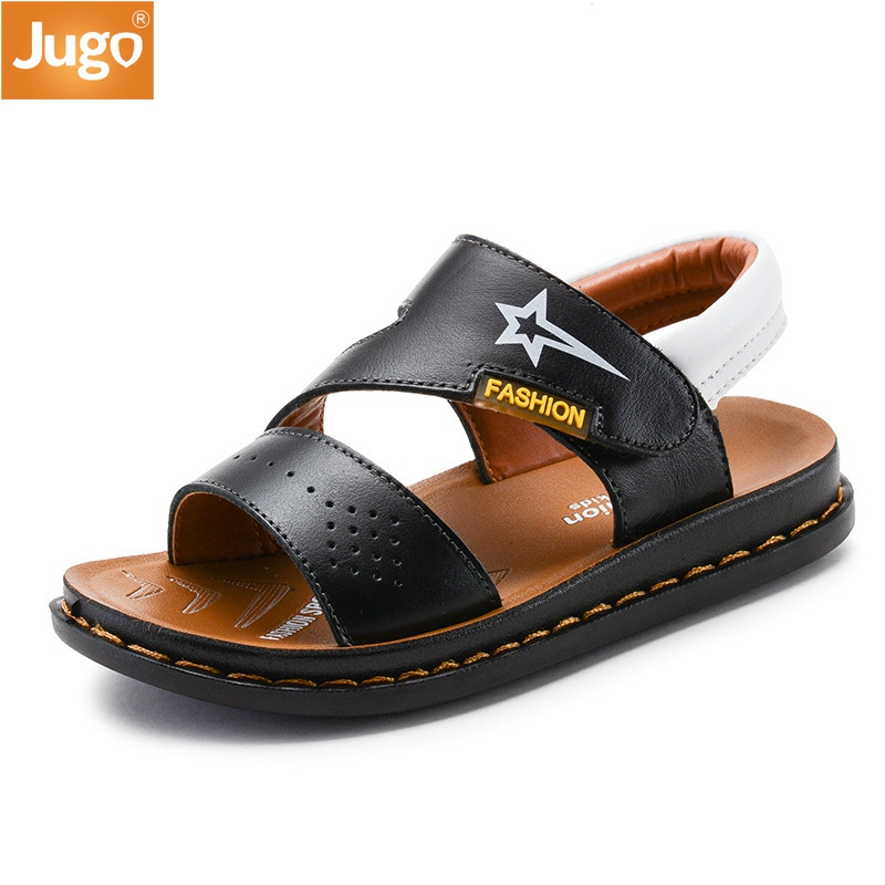 2017 New Children shoes Genuine Leather Sandals Male Kids Sandals Baby Boys Summer Sandals Casual Blue