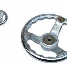 1 PCS CNC 3D Printer hand wheel Thread iron hand wheel Wave type 3 inch -8 inch