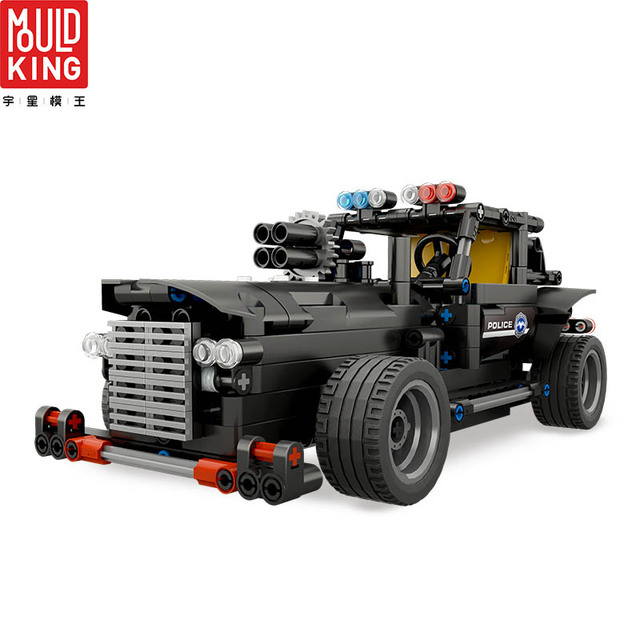 Mould king 13007 city swat team police rc car remote control truck building blocks technic car lepin™ land