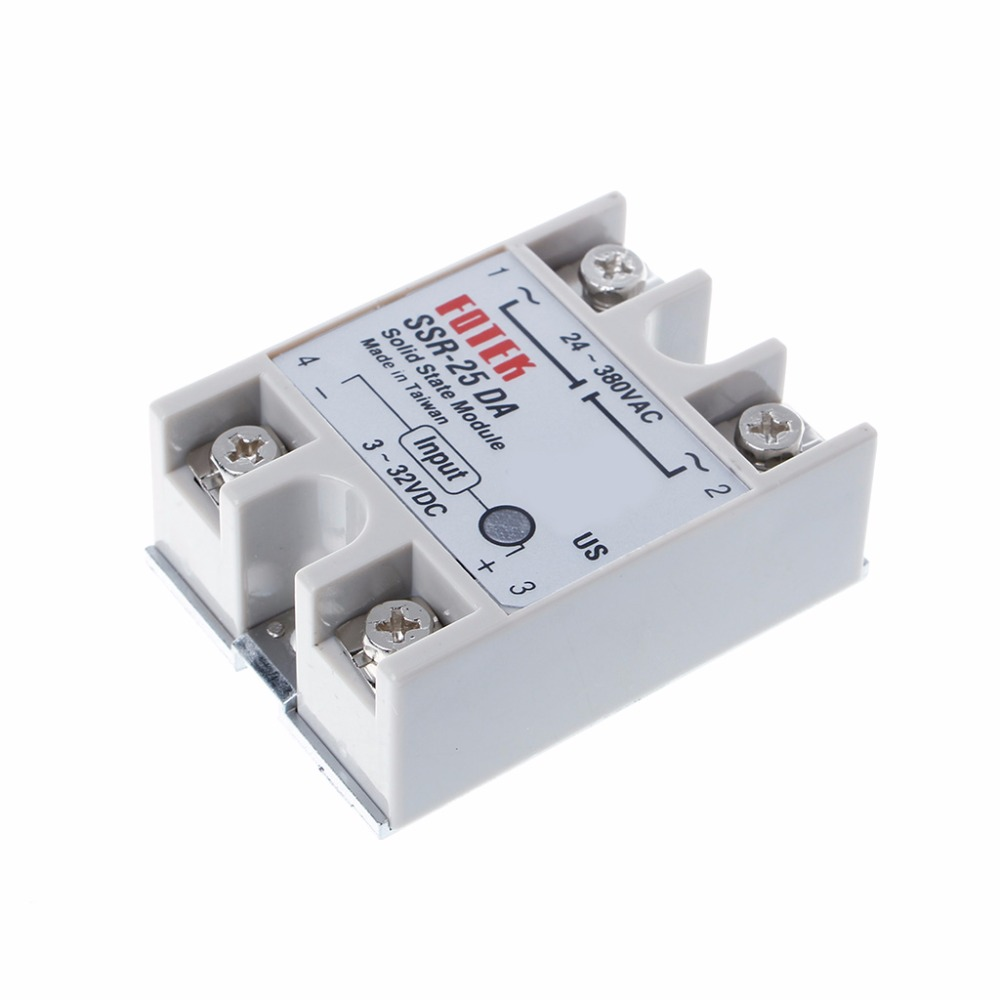 120v Relay Dc Ac 25a Solid State Single Phase Ssr Module Power Relays 25da 250v 3 32v Input 24