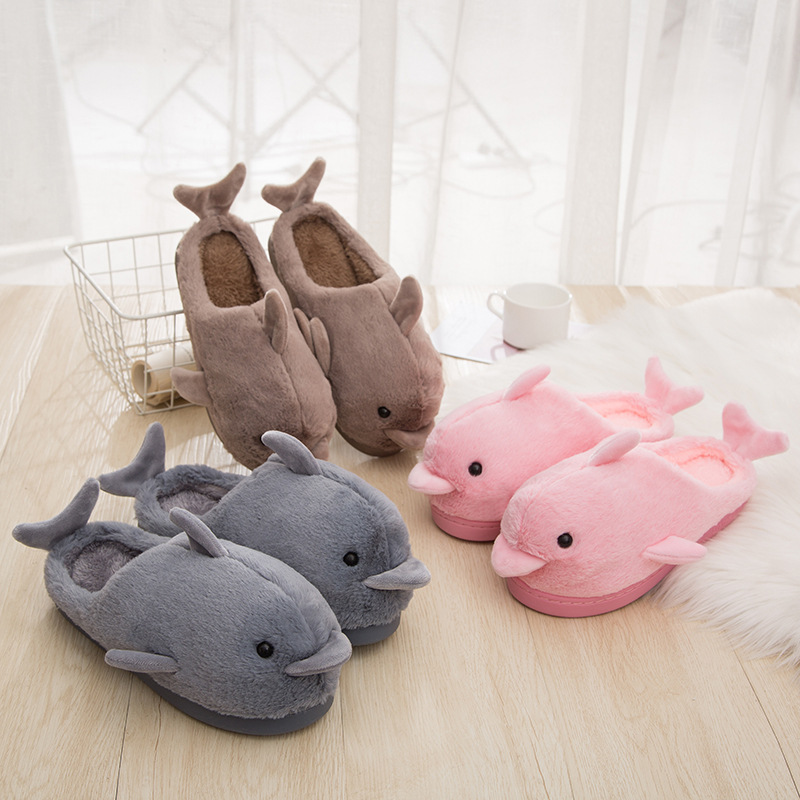 Dolphin Slippers Printed Unisex Slip On House Cotton Slippers Indoor /& Outdoor