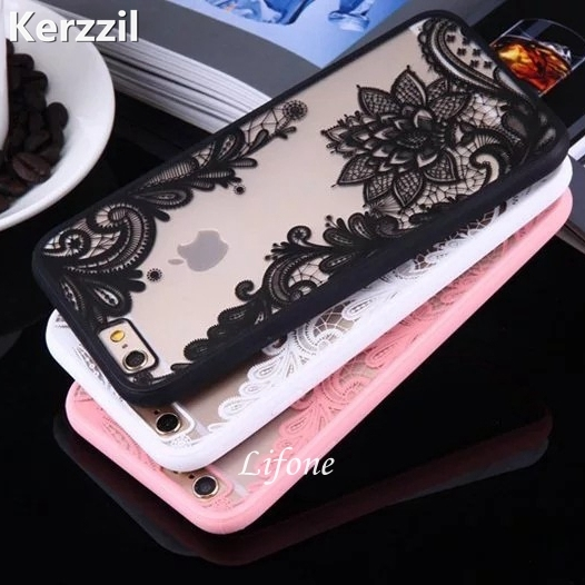 Kerzzil Lace Floral Paisley Retro Flower Mandala Henna Clear Case For iphone 6 6S 7 6s 7 Plus 5 SE 5s Phone Cartoon Back Cover
