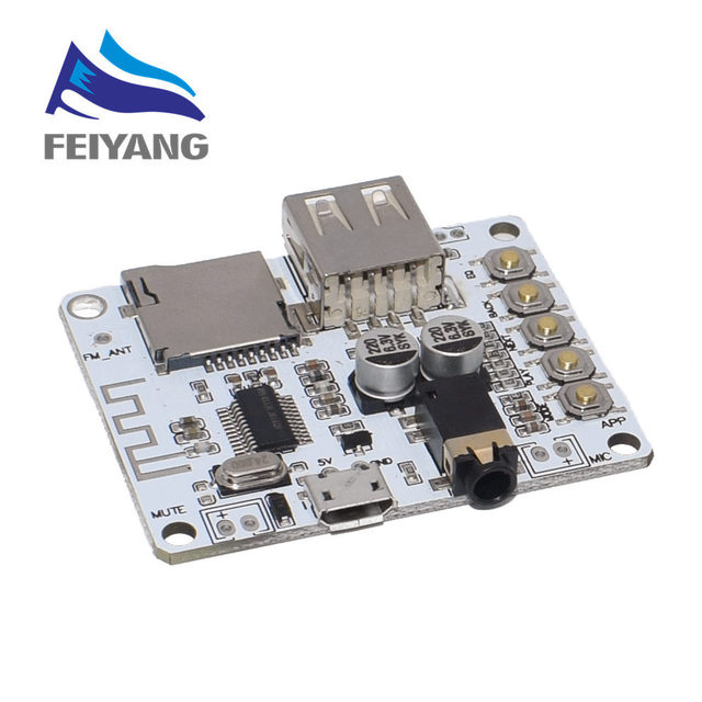 Bluetooth Audio Receiver board with USB TF card Slot decoding playback preamp output A7 004 5V 2.1 Wireless Stereo Music Module