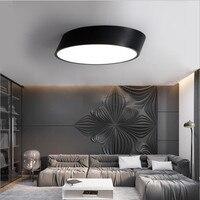 Luz de teto moderna lâmpada led diâmetro 25cm ferro cozido pintura corpo acrílico painel para o quarto conduziu a luz do dispositivo elétrico|Luzes de teto| |  -