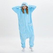 e1145e4f22 Kigurumi azul monstruo rojo de sésamo Street Elmo Onesies animales Cosplay disfraz  pijama de manga larga