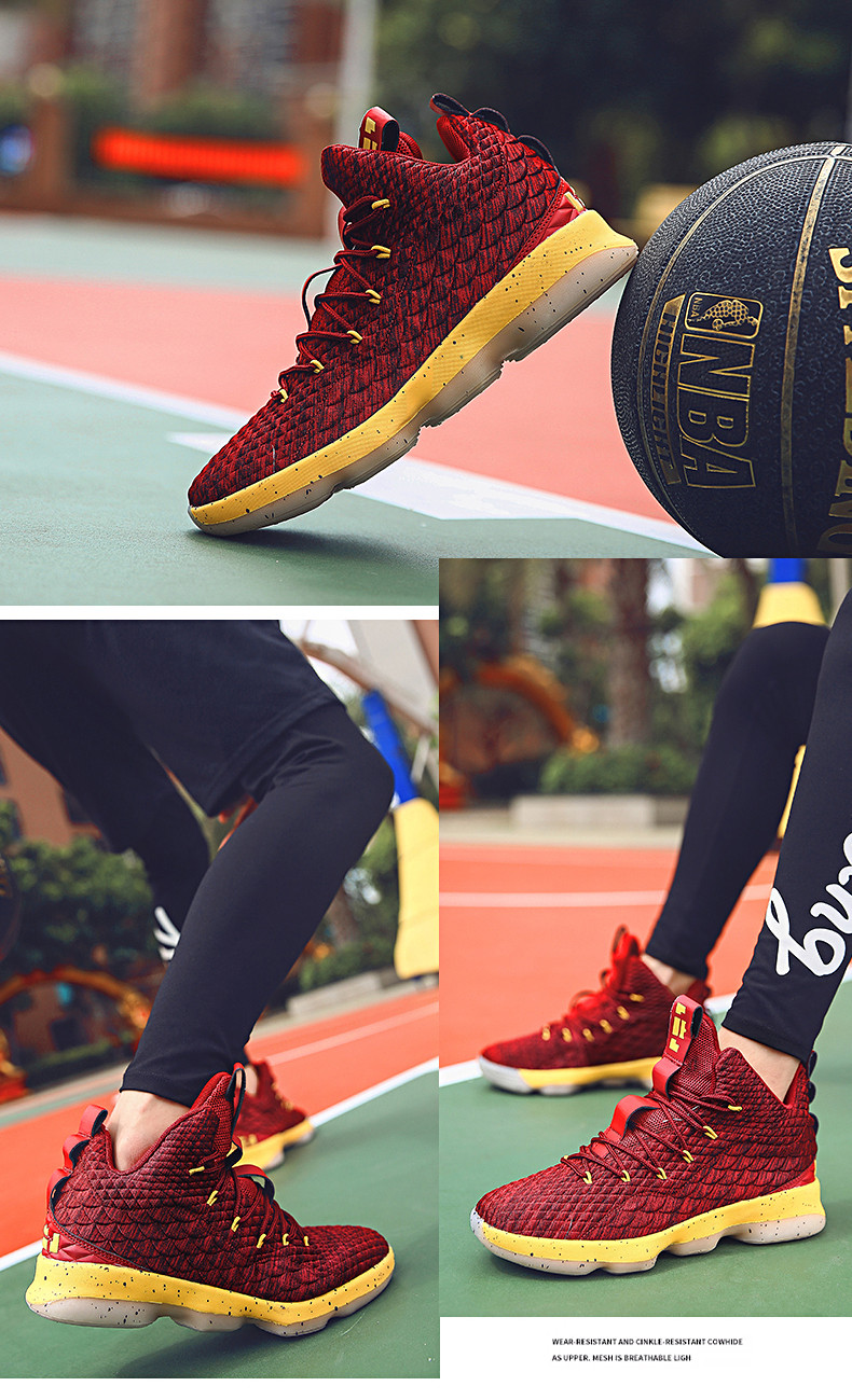 High-top Lebron Basketball Shoes Men Women Cushioning Breathable Basketball Sneakers Anti-skid Athletic Outdoor Man Sport Shoes (7)