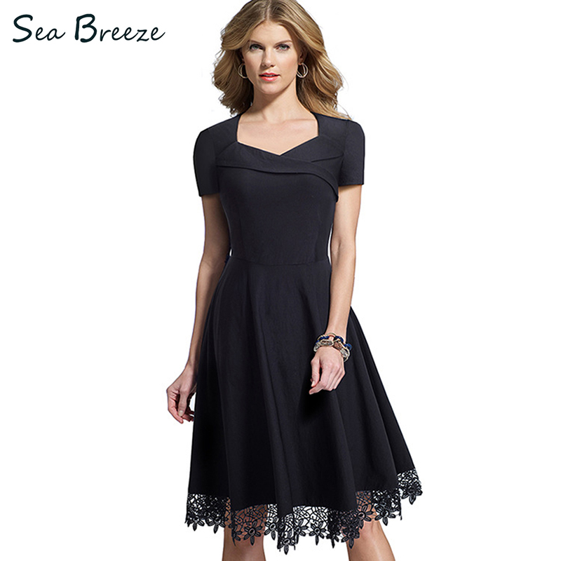 Sea Breeze Brand New Style Summer Women Elegant Black