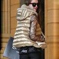 2016 estilo Europa mulheres jaqueta de inverno casaco curto para baixo algodão amassado jaqueta A-line Manto mulheres jaqueta parka tamanho grande DX642