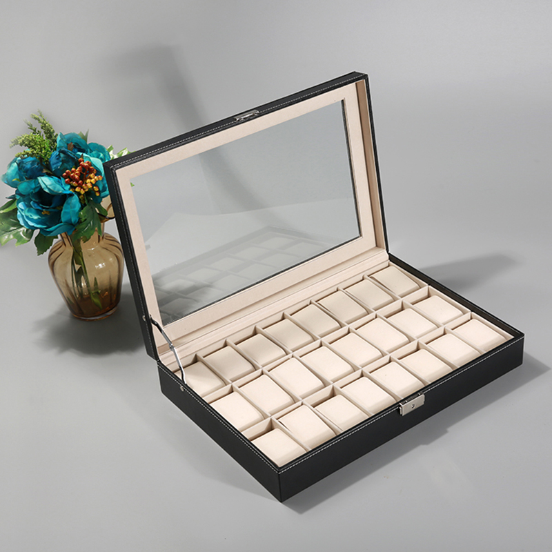 2019 New 24 Grids Watch Case Watch Boxes Casing for Hours Sheath for Hours Box for hours Watch 61 hours