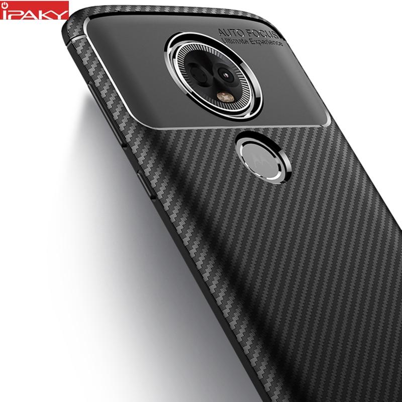 für Moto E5 Case IPAKY für Moto E5 Plus Case Silikon TPU Carbon - Handy-Zubehör und Ersatzteile