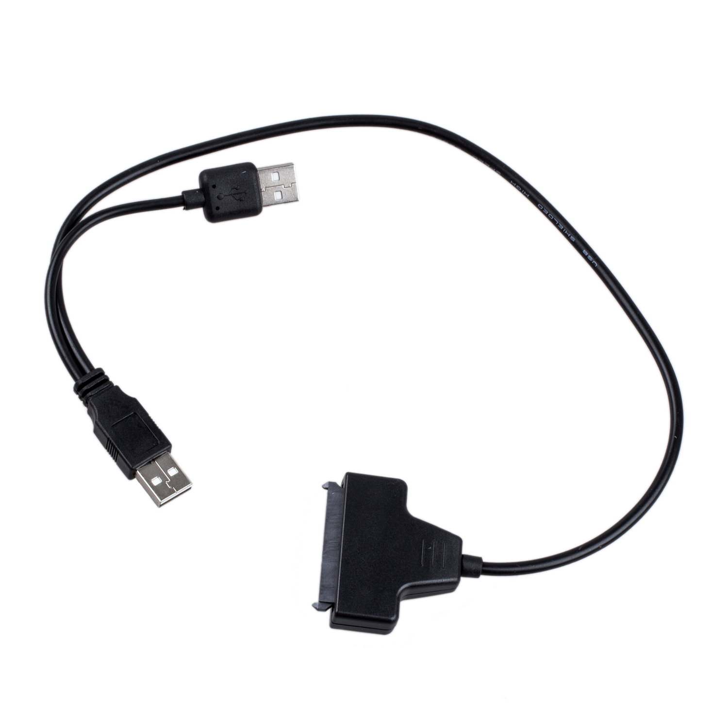 GTFS-New USB 2.0 to SATA Serial ATA 15+7 22P Adapter Cable For 2.5 HDD Laptop Hard Drive