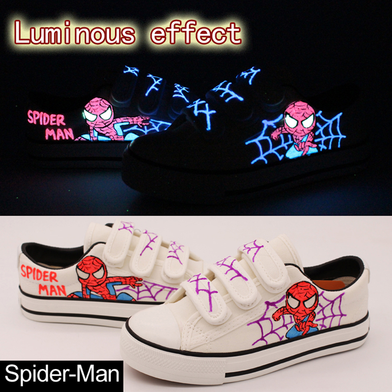 afc37b2c9994c Women Luminous Canvas Shoes 2018 new white hand painted casual ...