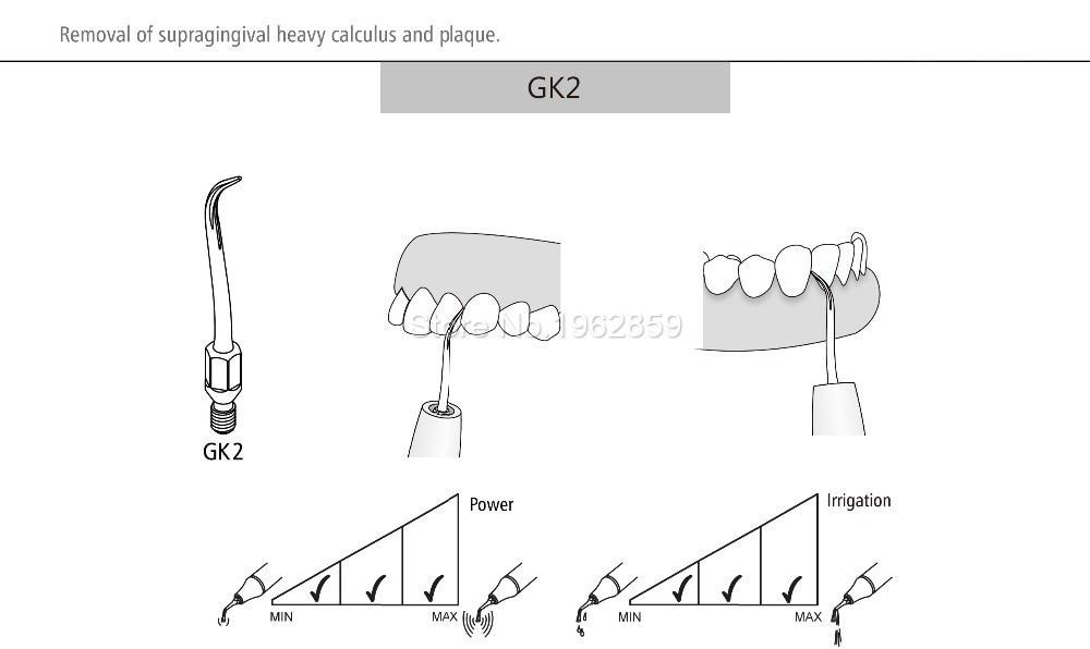 7 pçs lote Dental Scaler Dicas para