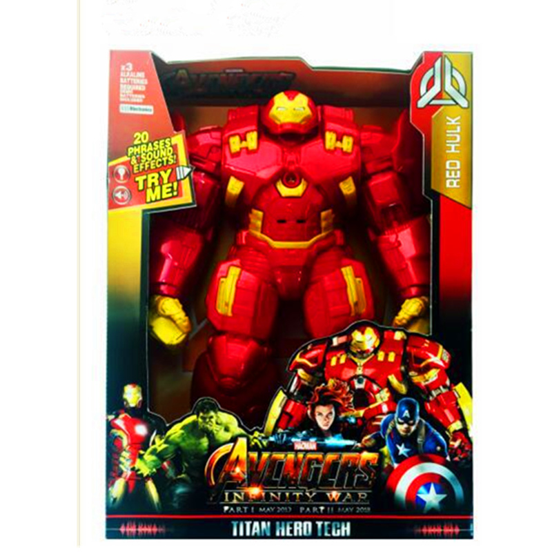 30CM The Avengers Anti Hulk Hulkbuster with Light and Sound Figurine Dolls Toys PVC Action Figure Collection Model Toy H605 image