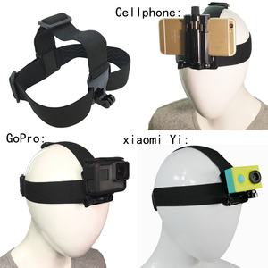 Head Strap Mount For SJCAM EKEN GoPro Hero 8 7 6 5 Yi 4K Sony Action Cam Accessories Harness Belt For Iphone Mobile Phone Holder(China)