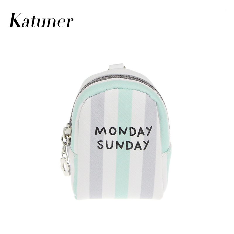 Katuner New Striped Letter Mini Coin Pouch Kids Children Coin Purse Wallet Women Money Bag Girls Purse Porte Monnaie KB023