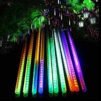 10pc/set RGB 5050 50cm 72led Meteor Shower Rain Tubes LED Light for Wedding Decoration christmas Holiday LED Meteor Light driver