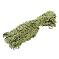 100M Artificial Green Leaves Hemp Rope Wedding Party Christmas Decoration Burlap Hessian Jute Twine Cord Hemp Rope Leaf Handmade