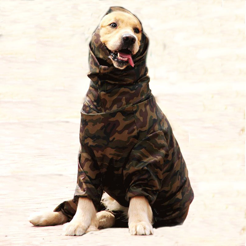 Dog Raincoat For Large Dog Husky Samoyed Big Dogs 6 Sizes Waterproof Male&Female Rain Coat Jacket Clothes Costumes Overalls 2019