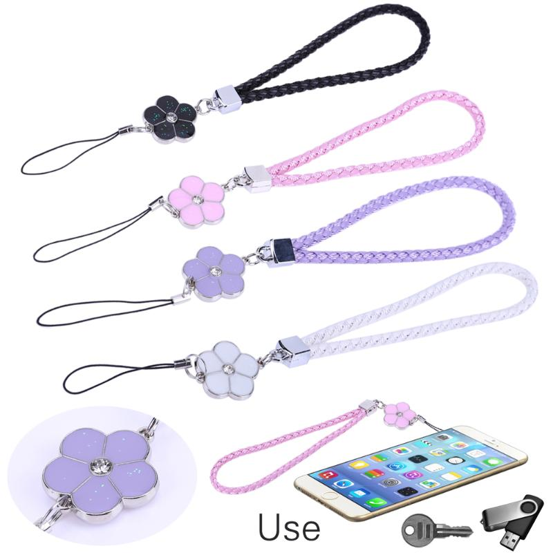 PU Leather Mobile Phone Straps Rhinestone Beaded Smart