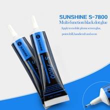 S-7800 black glue soft phone maintenance mobile rim LCD screen bonding adhesive box crack seal glue.