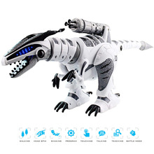 Electronic walking dinosaurs robots toys interactive remote RC mechanical model for children
