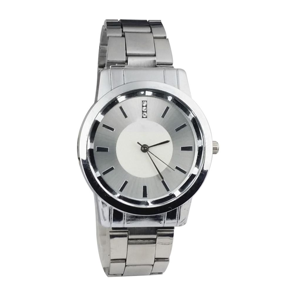 Fashion Men Women Steel Band Quartz Analog Display Couple Wrist Watch Gift