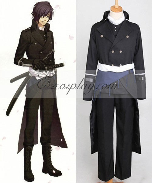 Costume de Cosplay Hakuouki Shinsengumi Kitan Saito Hajime E001