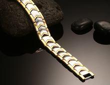Розовое золото цвет Титановая Сталь Двухрядные магнитные браслеты