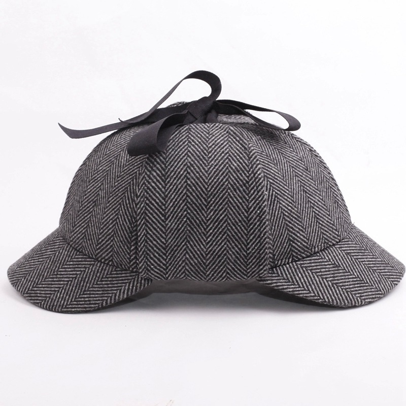 SHOWERSMILE Sherlock Holmes Hat Unisex Winter Wool Berets For Men - Kläder tillbehör - Foto 4