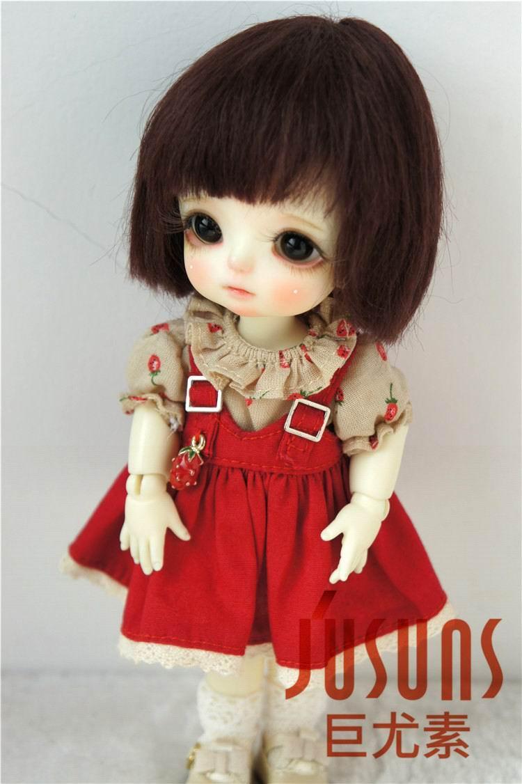 JD042 1/12 1/8 Қысқа кесу Mohair Doll шашты - Қуыршақтар мен керек-жарақтар - фото 4