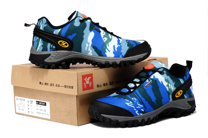ФОТО Brand men hiking shoes outdoor Mountain climbing Sneakers for men hiking trainers trekking sport trekking shoes non-slip shoes