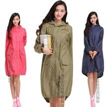 2015 new  women raincoat rainwear chubasquero mujer female breathable thin long travel rain ponchos capa de chuva vinyl