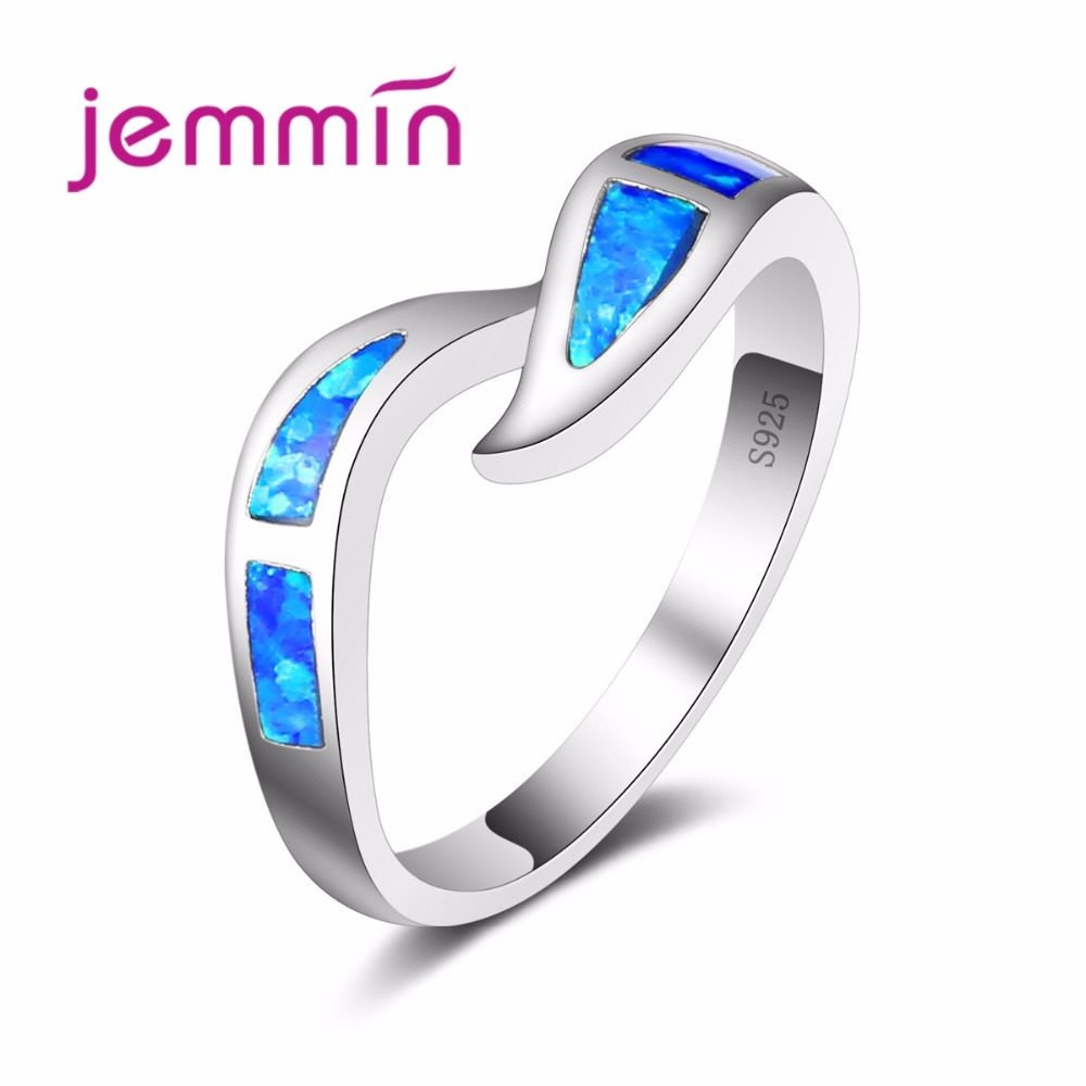 Fire Opal Ring Women Jimmin 925 Sterling Silver Wedding Ring Charm Fine Ring for Party Fine Jewelry Valentine's Day Gift