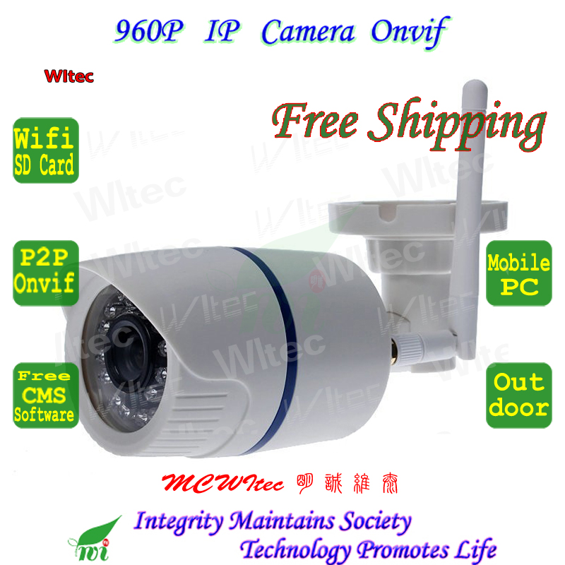 SD Card storage ipc WIFI 960P IR Security Bullet ONVIF Waterproof Night Vision P2P IP Cam IR Cut 1.3MP Network Megapixel Camera wifi wired security ip camera 1080p 2 0mp onvif p2p ir cut motion detection with sd card remote viewing bullet cctv security cam