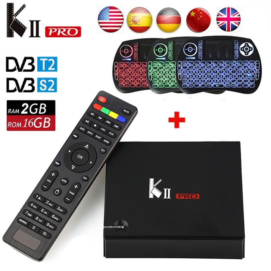 [Genuine] KII Pro Tv Box DVB-T2 DVB T2+S2 Amlogic S905 Quad-core 2GB/16GB Android 5.1 Tv Box Bluetooth 2.4G/5G Wifi Set Top Box 10pcs kii pro 2gb 16gb dvb s2 t2 5 1 android tv box amlogic s905 quad core support dvb s2 dvb t2 smart media player