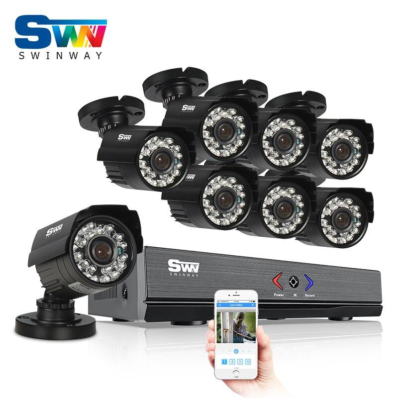 8CH HD HDMI 1080N DVR AHD Security Camera System 720P IR Night Vision CCTV Camera Outdoor Home Video Surveillance Kits zosi 8ch cctv system 720p ahd dvr hdmi 4pcs 720p ir night vision outdoor cctv camera home security system surveillance kits
