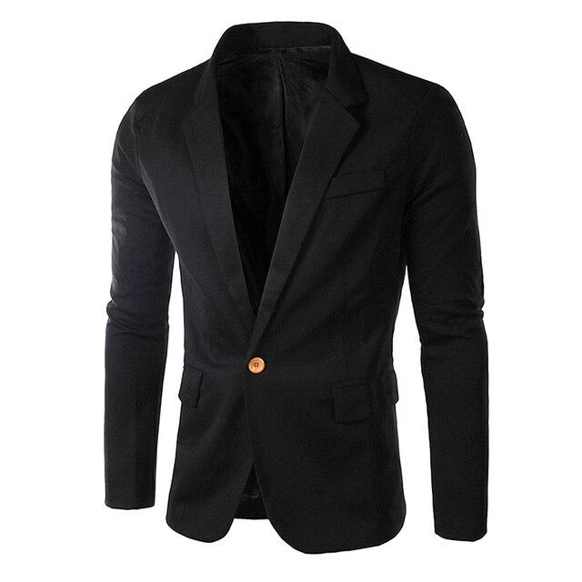 Модный мужской Костюм Весна Осень Плюс размер Новый Джентльмен Уникальный малых Куртка Чистый Цвет Верхней Одежды Черный и Темно-Синий Для Человека LB