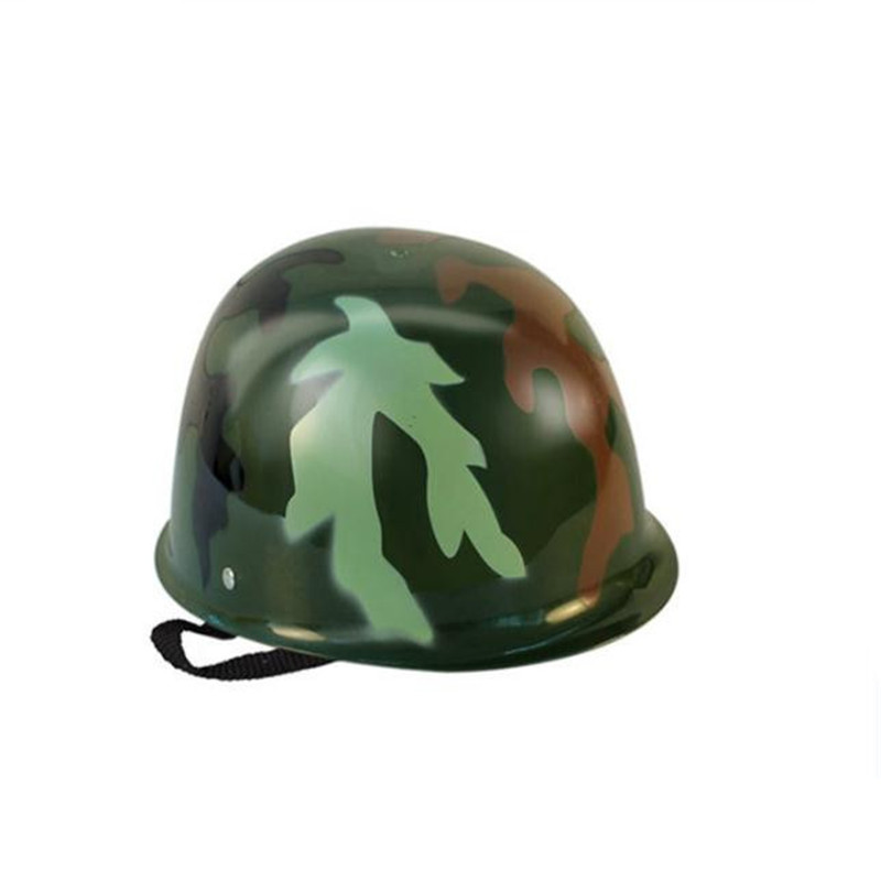 Children Soldier Hat Toys prop Helmet Cosplay Costumes Plastic Green Camo Anime Christmas Party Halloween Costume For Kids