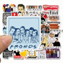 50Pcs American TV Series:Friends Stickers Laptop iPad Suitcases Luggage Skateboard Surfboard Decoration Macbook Bicycle Stickers