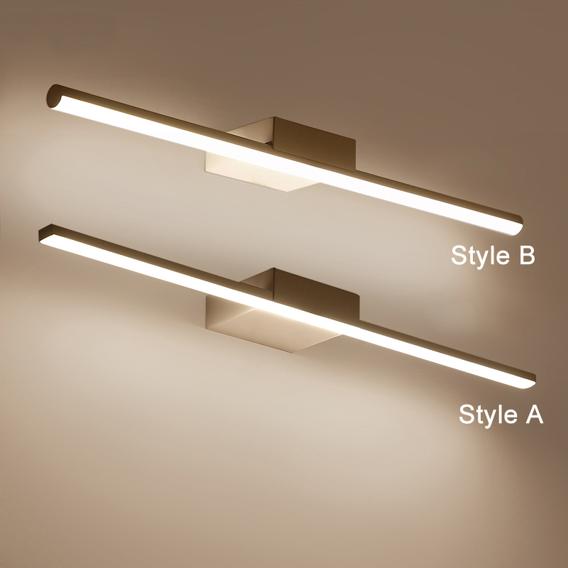 Wall Lamp Led bathroom mirror lights White makeup dressing bathroom led mirror lamp Home fixture Lighting wooden dressing table makeup desk with stool oval rotation mirror 5 drawers white bedroom furniture dropshipping