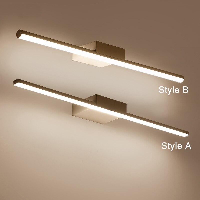 lampada de parede led espelho do banheiro luzes maquiagem branca vestir banheiro led espelho luminaria para