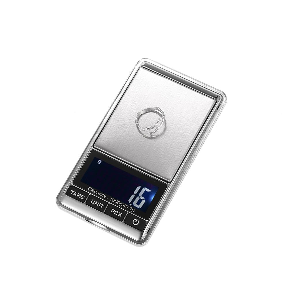 1000*0.1g Mini bilancia Digitale Bilancia elettronica Tascabile bilance Multifunzionali Bilance per bilancia gioielli