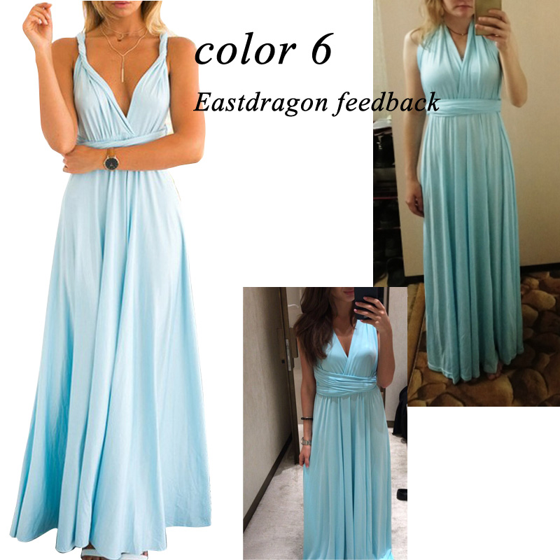 Sexy Women Multiway Wrap Convertible Boho Maxi Club Red Dress Bandage Long Dress Party Bridesmaids Infinity Robe Longue Femme 8