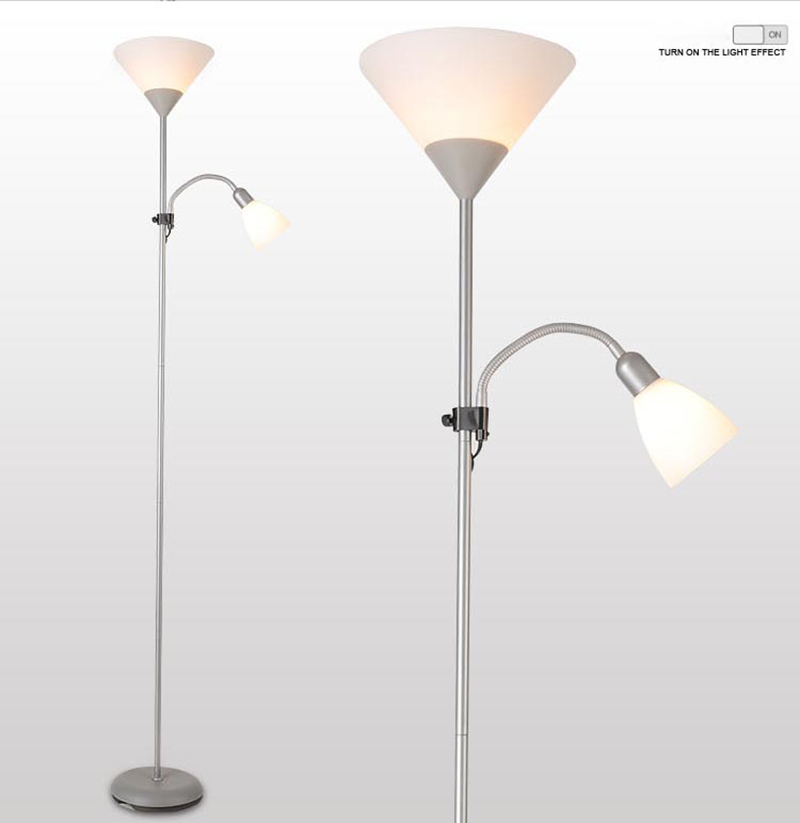 European style with two shades floor lamp standing lamp for Living room lamp shades