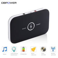 DBPOWER 2 In 1 Bluetooth Audio Receiver Transmitter Wireless Stereo Music Transmitter Receiver Support Connecting Two