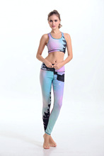 Top Quality Fitness Women s Yoga sets Running Stretch Elastic Compression Tights Sports Pants Women Quick