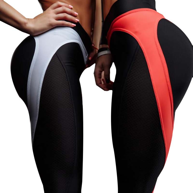cca6b1036e7d0 Heart Shape Push Up Leggings Women Patchwork Print Sport Yoga Pants Leggins  High Elasticity Fitness Gmy Clothing Workout-in Yoga Pants from Sports ...