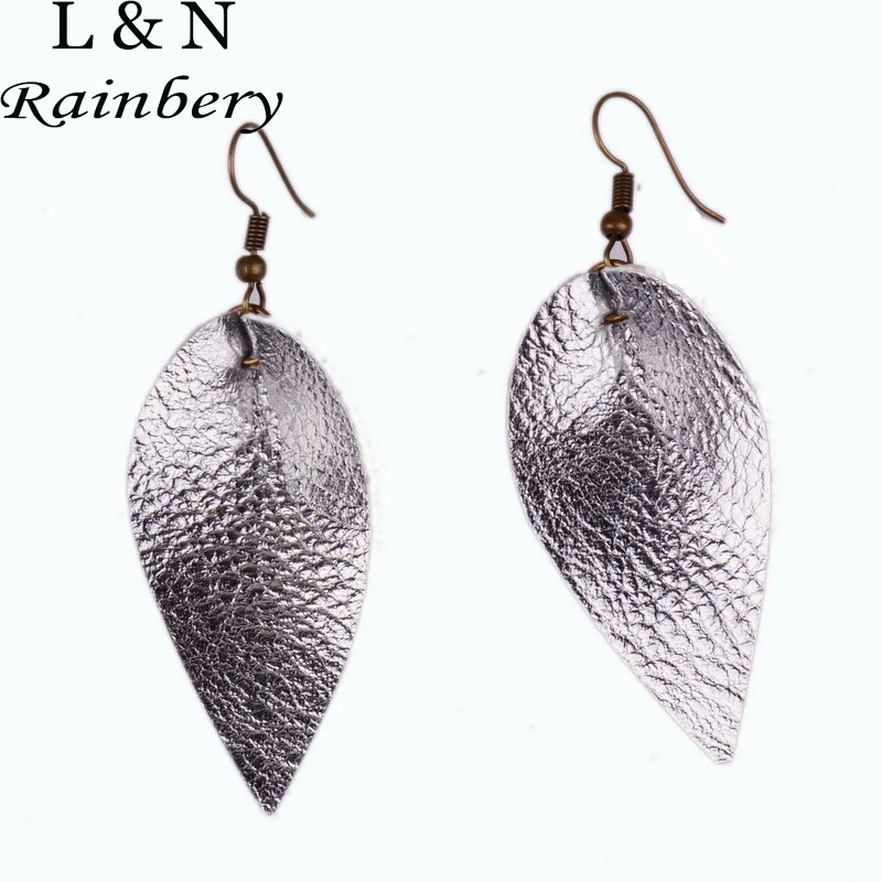 Leather Earrings Antique Looking