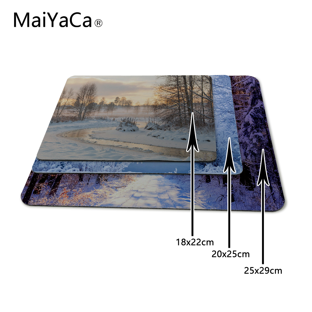 MaiYaCa Beauty of Winter Rubber Soft gaming mouse Cool Games black Mouse Pad Not Overlock Mouse pad